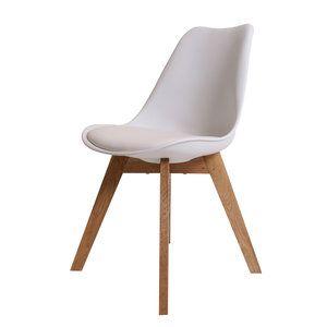 Eetkamerstoel consilium valido wit of zwart leer is een for Eettafel stoel leer