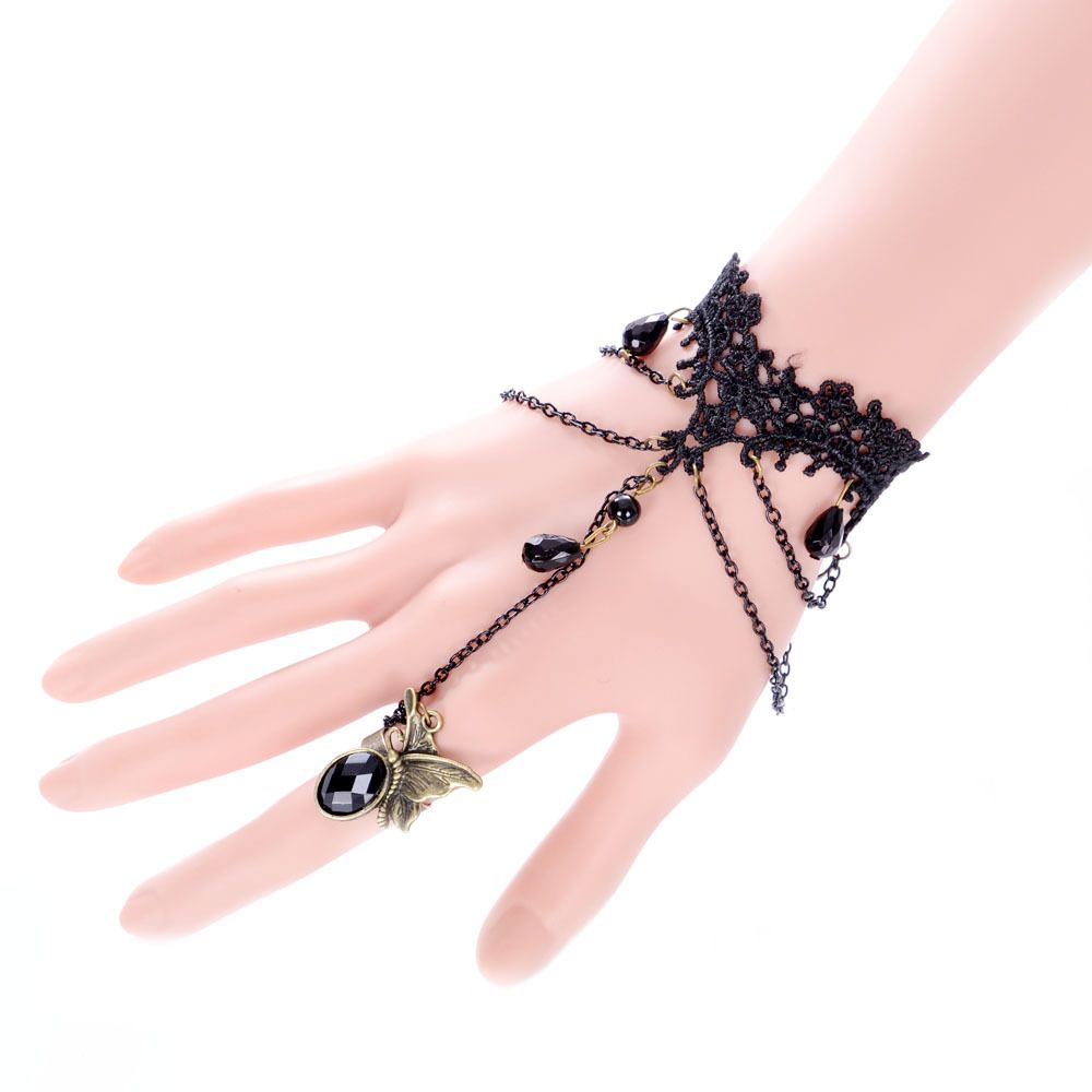 Vintage Black Lace Bracelets Retro Jewelry Women For Wedding and ...