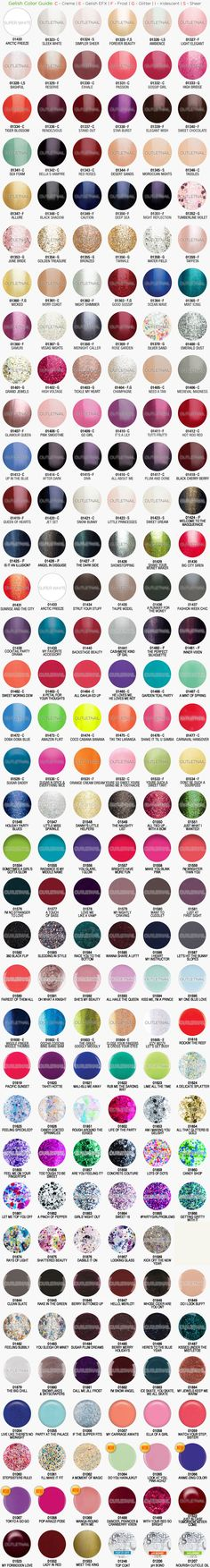 Outletnail Items Get Great Deals On Gelish Harmony Color Chart