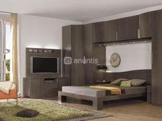 Armario Puente Con Television En El Lateral De La Cama Dormitorio De Matrimonio Home Home Decor Furniture