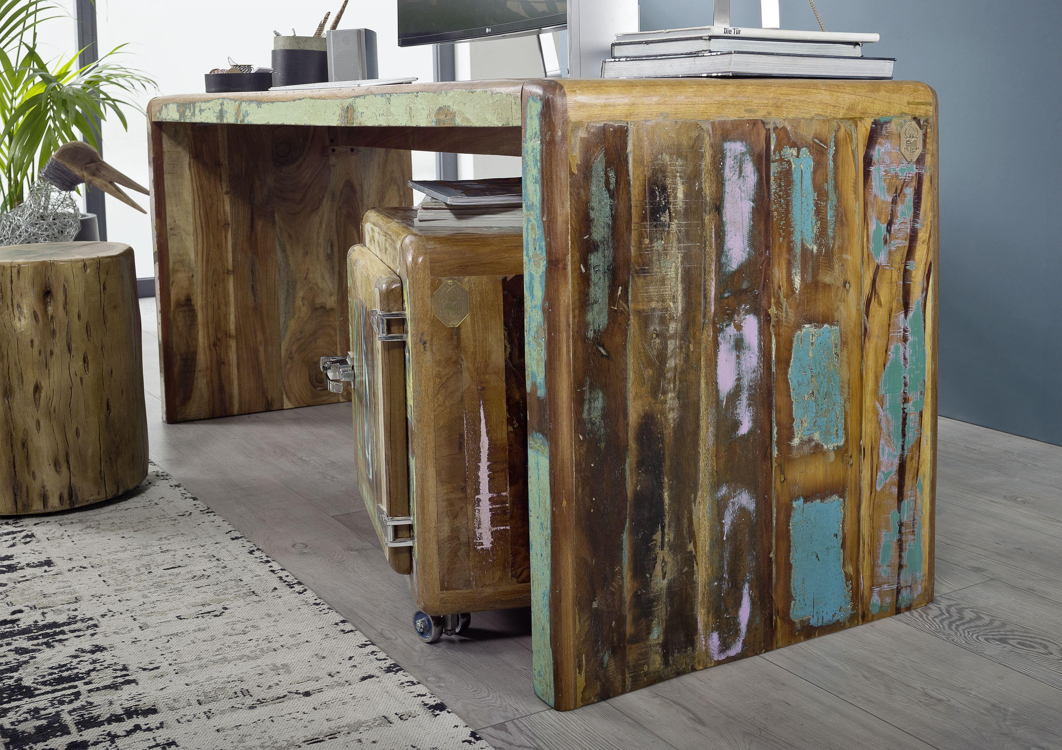 Schreibtisch Der Freezy Serie Aus Indischem Altholz Im Industrial