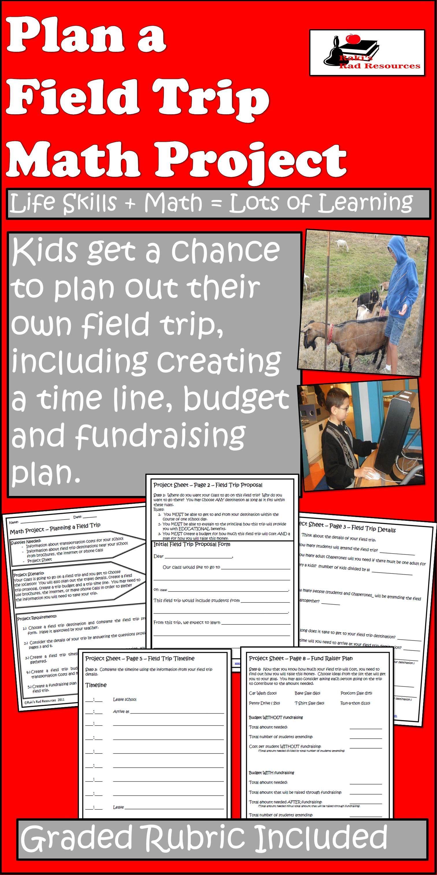 Planning a Field Trip - Math Project | Math projects, Field trips ...