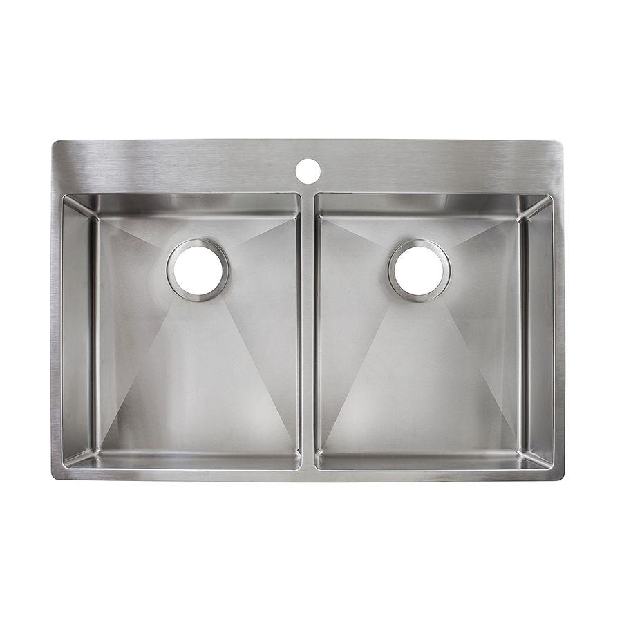 Franke Fast In 33 5 In X 22 5 In Stainless Steel Double Basin Drop