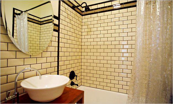 A Brooklyn Condo Blends Vintage And Modern Bathroom Subway Tileshex