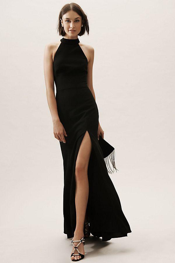 Montreal Dress Anthropologie In 2020 Black Bridesmaid Dresses Black Tie Wedding Guest Dress Black Tie Dress