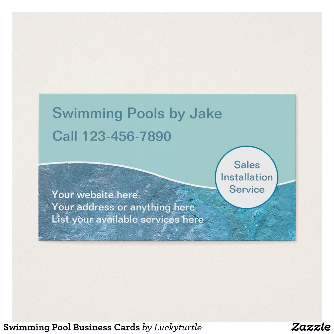 Swimming Pool Business Cards Nice Looking Business Card Designs