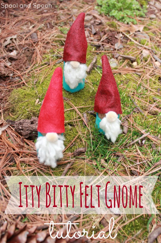 Spool and Spoon: DIY Mini Felt Gnomes | Spring crafts for kids ...