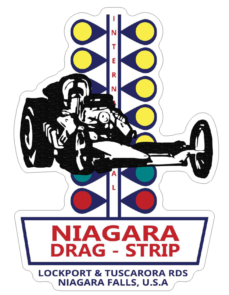 Niagara drag strip racing new york car sticker