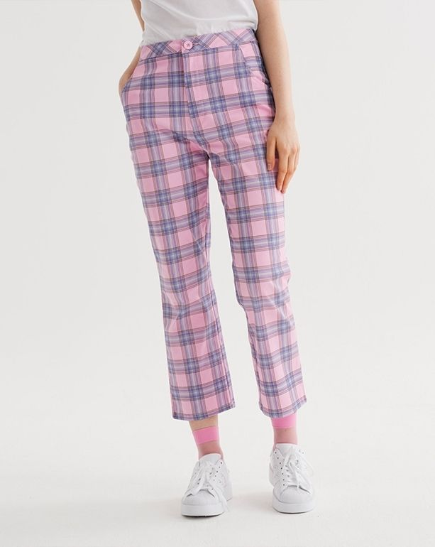 580f2940c654 Lazy Oaf Bow Bum Check Trousers - Everything - Categories - Womens ...