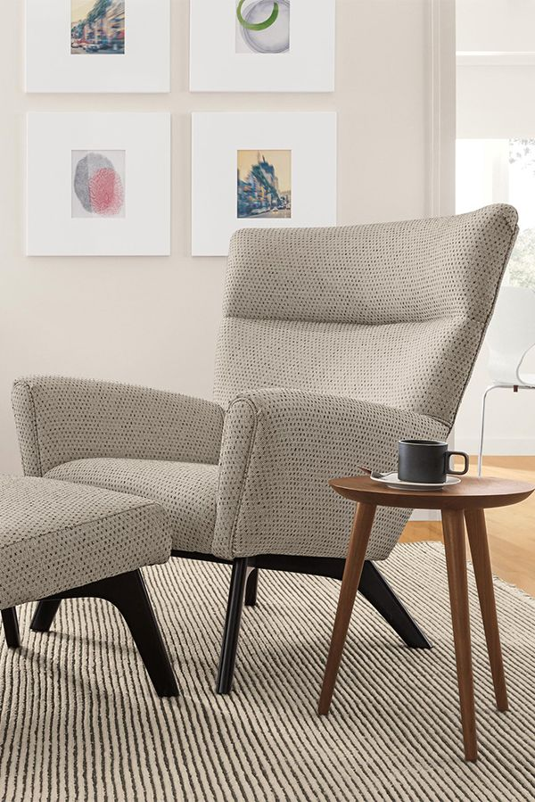 Boden Chair & Ottoman Accent Chairs Modern Living Room