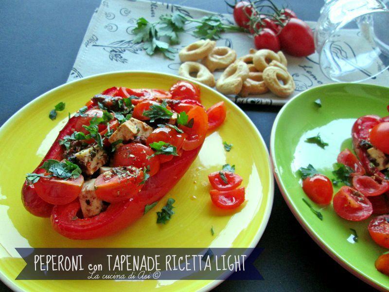 Peperoni con tapenade ricetta light piatto light a basso contenuto