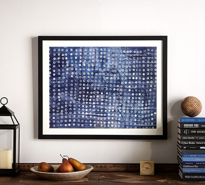 Framed Indigo Dots Abstract Print | Blue and White | Pinterest ...