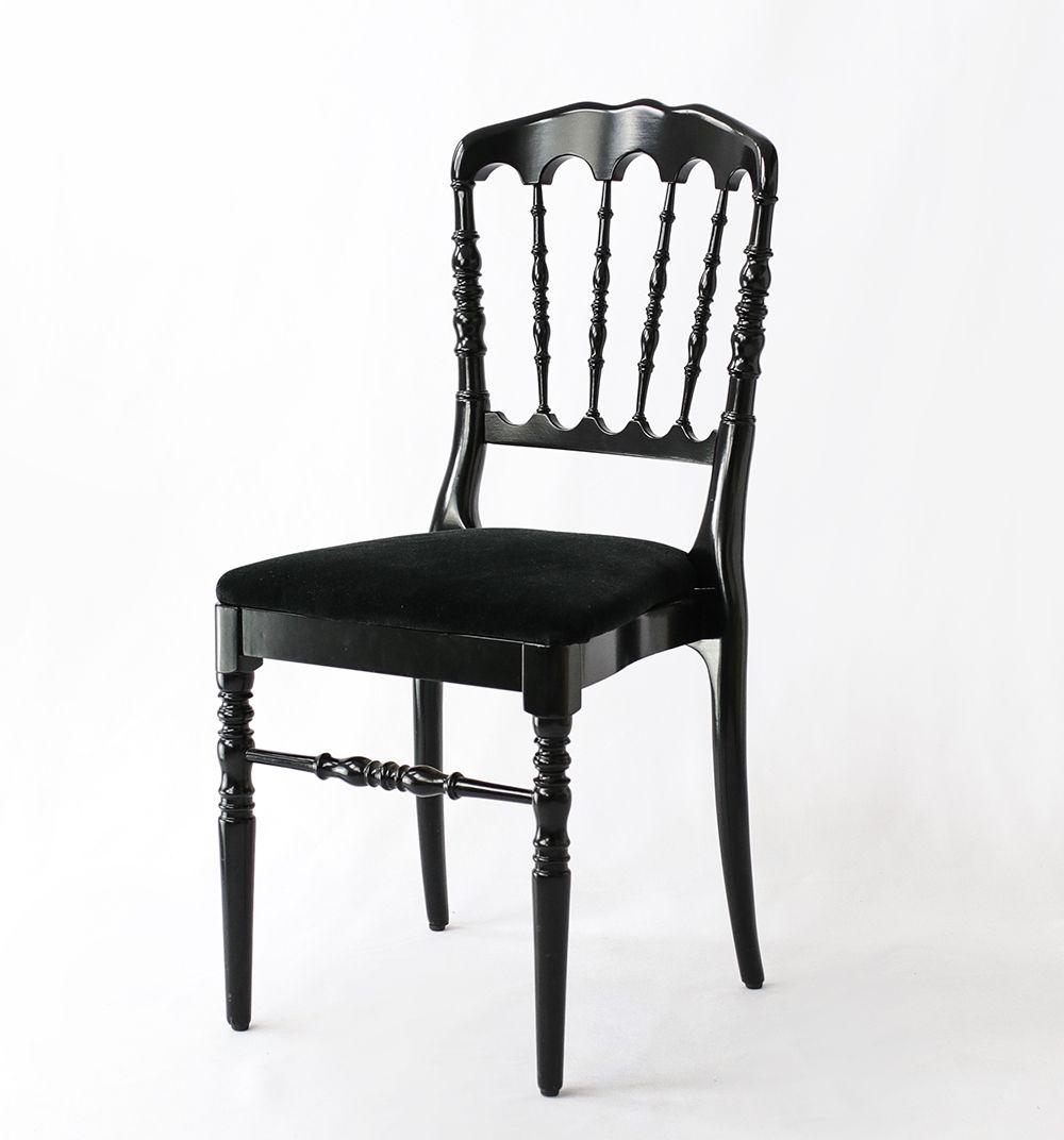 Chaise Napoleon Iii Noire En 2020 Chaise Chaise Pliante Location Chaise