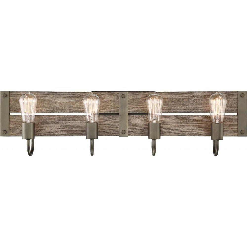 Photo of Winchester 4 Light Vanity, Brown, Nuvo Lighting