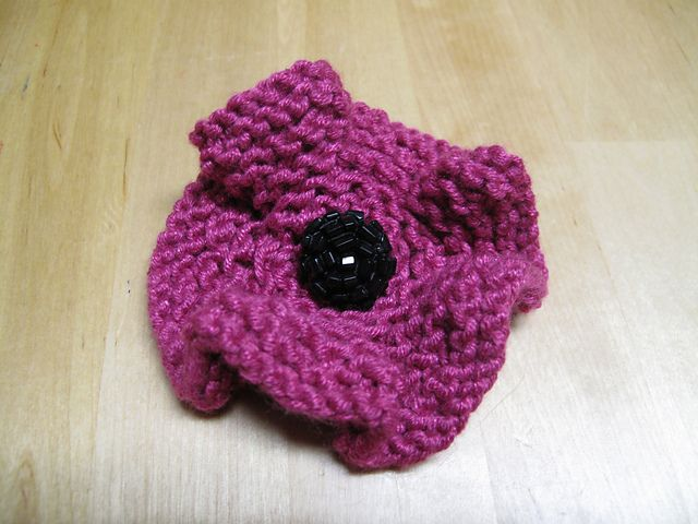 Knitted Flower C Fiber Flowersleavesother Shapes Pinterest