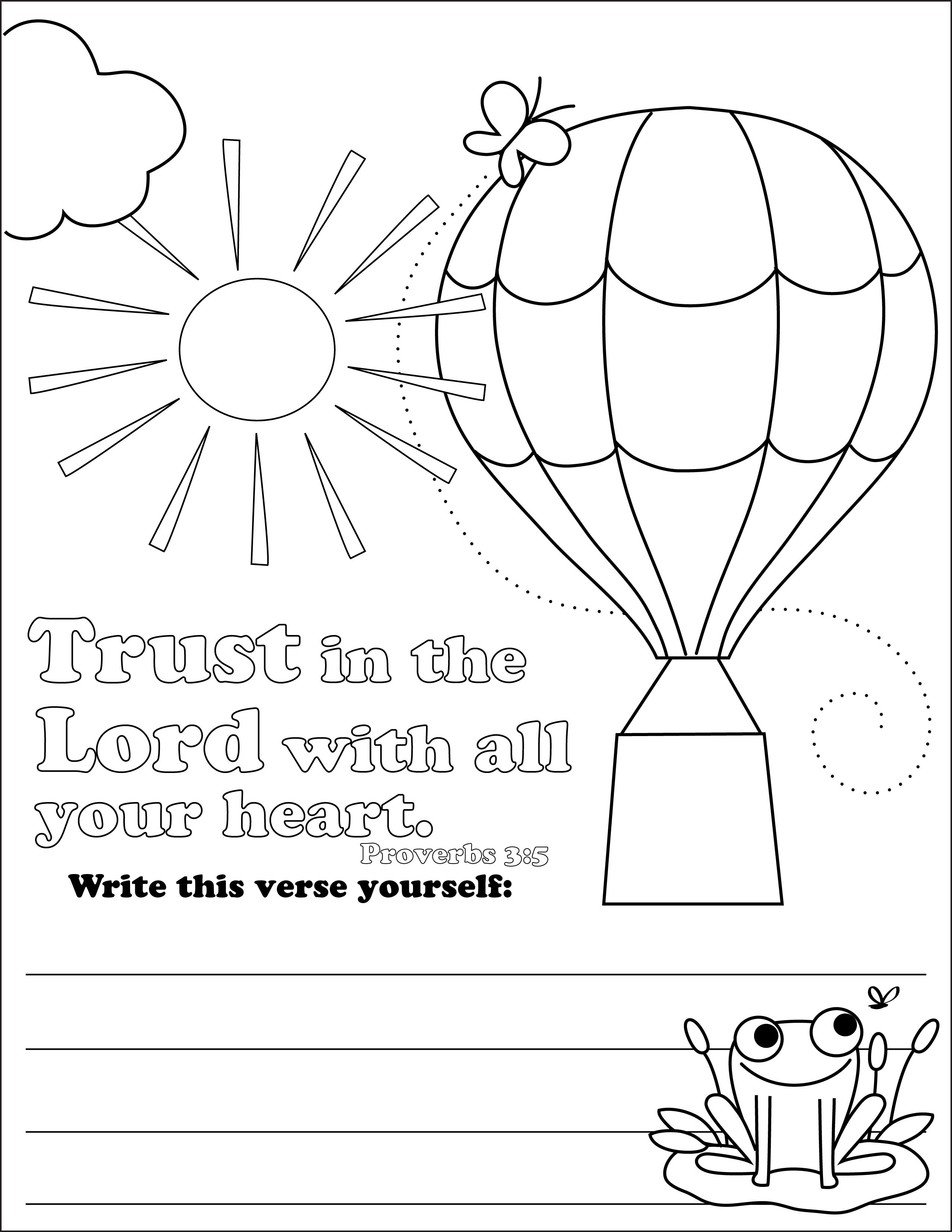 Free Coloring Pages Of Trust In God