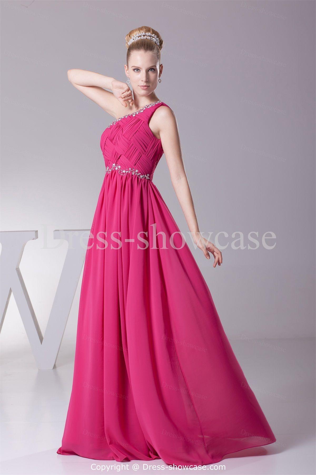 Beading One Shoulder Wedding Guest Dress | Wedding guest dresses ...