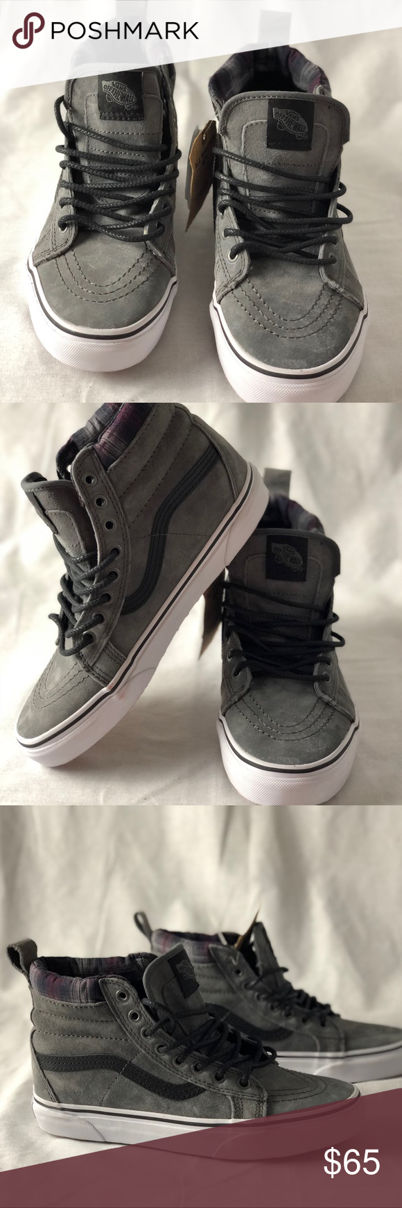 2ec307abfcd7 Vans SK8-Hi MTE Pewter Plaid Grey All Weather skat Vans SK8-Hi MTE Pewter  Plaid Grey All Weather Skate Shoes Women s 8 Men s 6.5 New with Box.