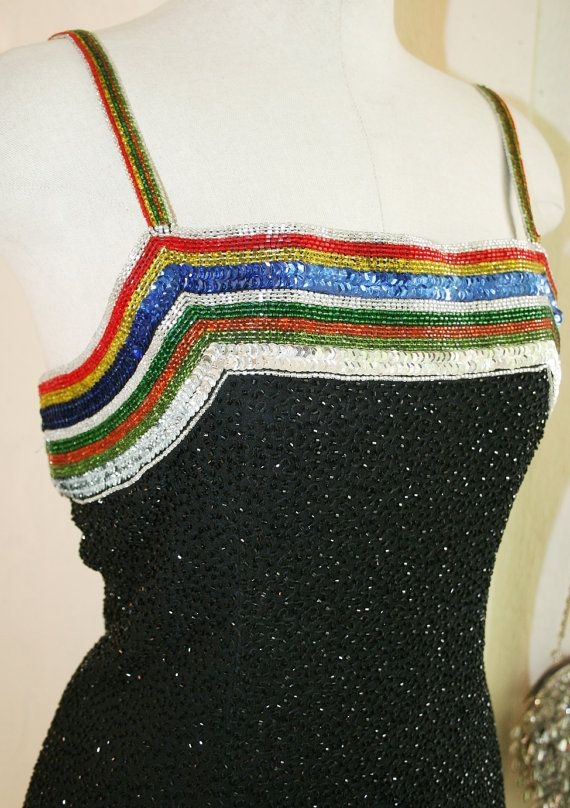 Rainbows and Skittles  Circa 1970's  Cocktail Dress by CallMeChula, $175.00