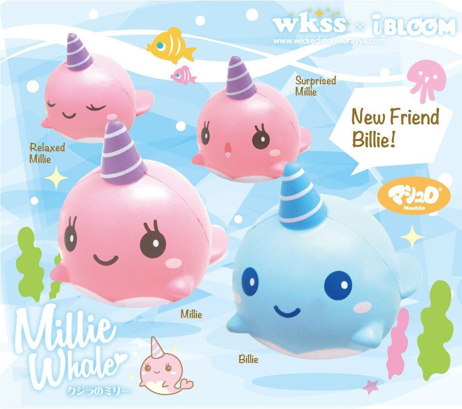 Pre-Order iBloom Millie The Whale Squishy Girl Toys Pinterest Squishies, Kawaii and Slime