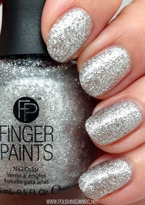 #FingerPaints Silver Bells from the #Holiday 2014 Winter Wishes Collection #nails