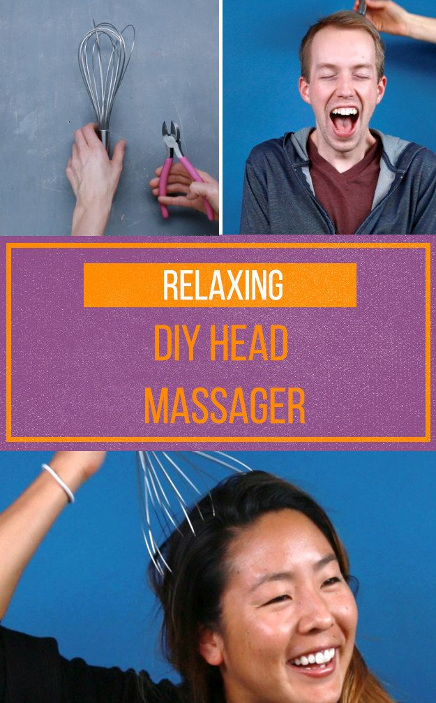 This Diy Head Massager Is So Easy To Make It Will Give You Chills Head Massage Diy Massage Massage