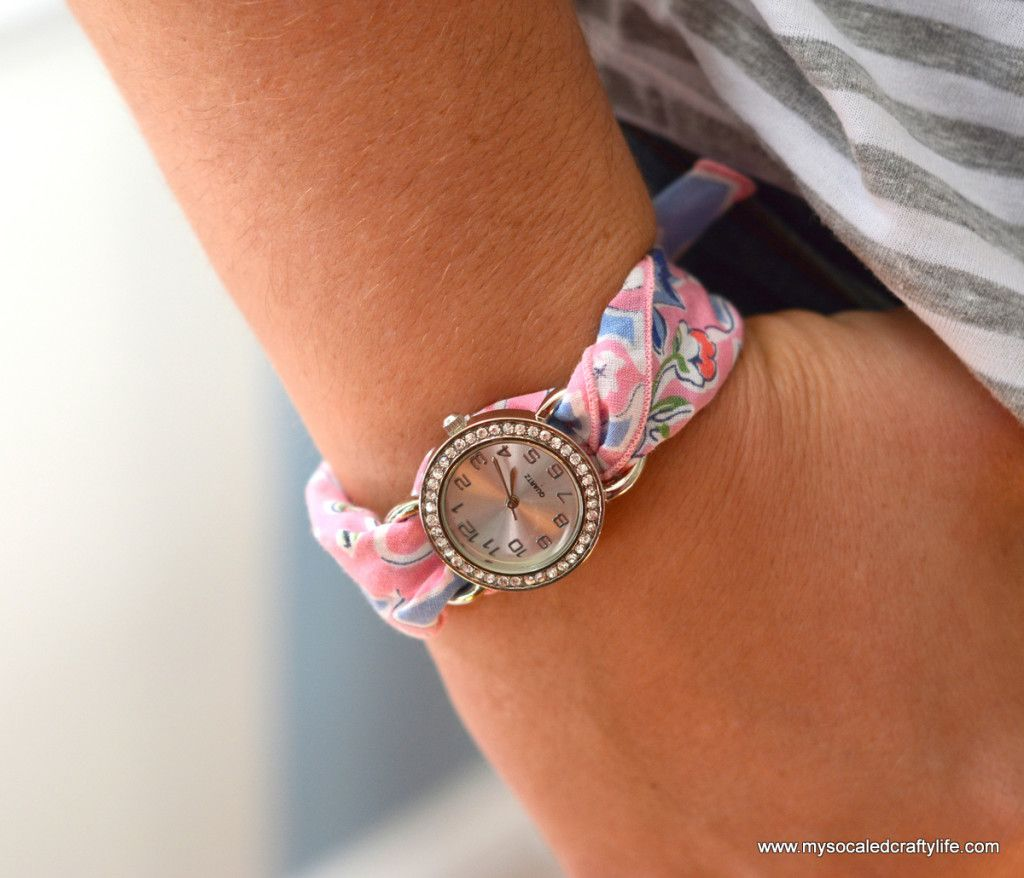 Five Minute Diy Vintage Hanky Watch Diy Watch Band Watch Diy