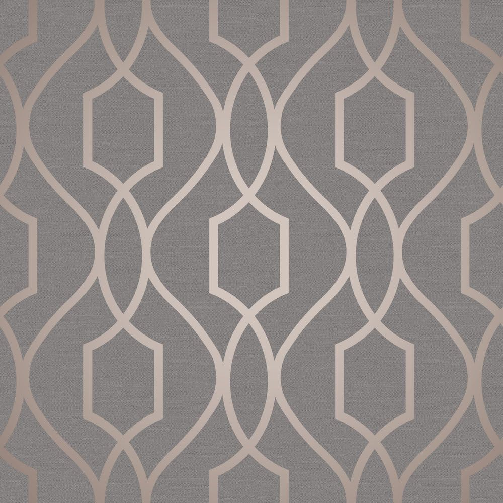 A stylish metallic copper geometric design on a flat for Purchase wallpaper