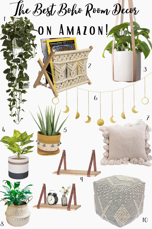 The best boho room decor from Amazon How to find boho bedroom ideas amazondecor homedecor - #bohobedroom