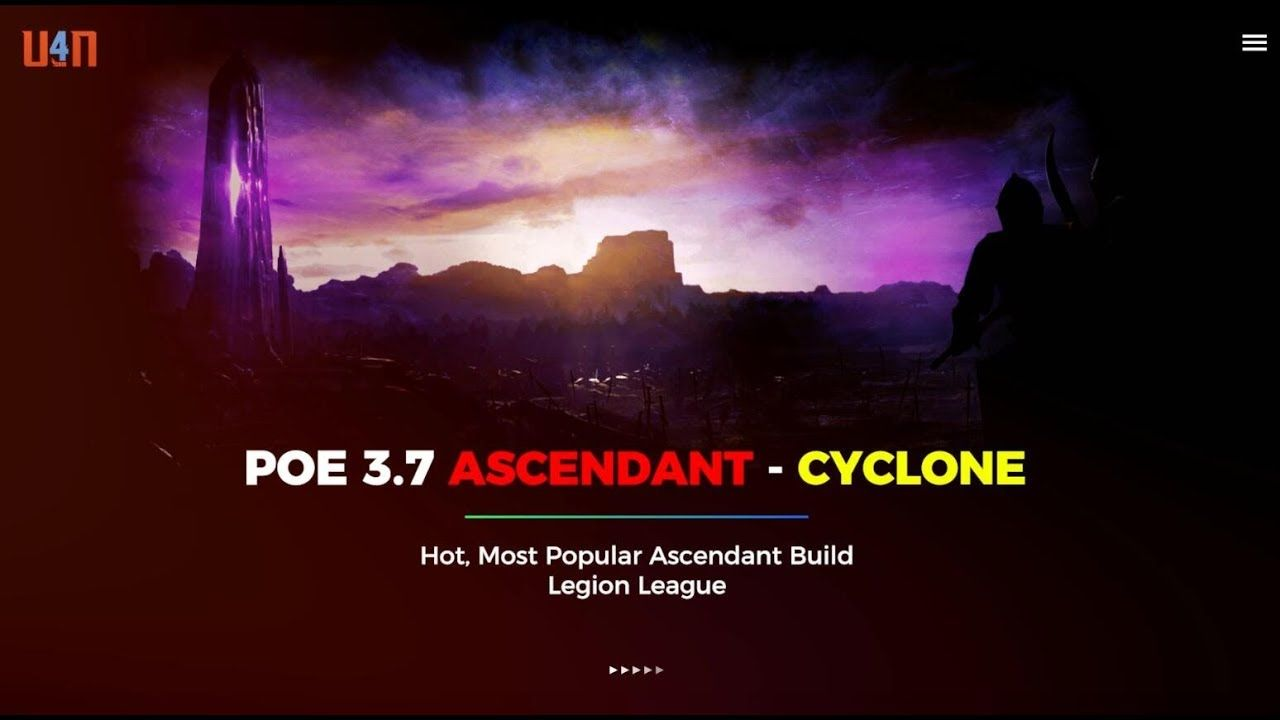 Latest And Popular Poe 3 7 Ascendant Cyclone Build Poe Ball Lightning Popular