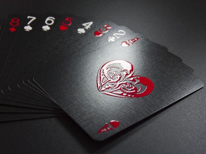 310gsm German Linen Air Card Stock With Images Playing Cards