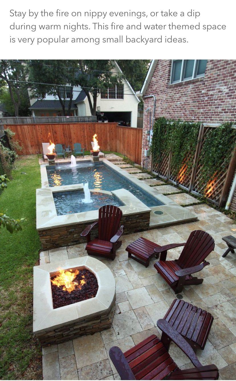 Pin By Joey Tomažin On Backyard Backyard Patio Small Pool Design Small Backyard Design