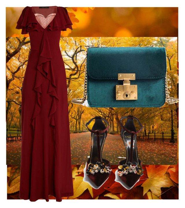 """fall"" by selukeyho on Polyvore featuring Elie Saab and Lanvin"
