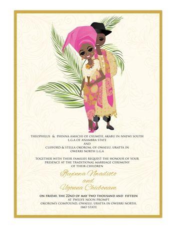 Love Nwan Tin Tin Nigerian Igbo Traditional Wedding Invitation Wedding Invitation Card Wording Wedding Invitations Wedding Invitation Cards