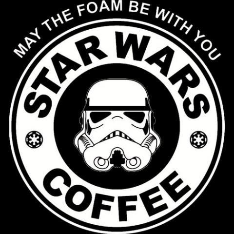 Star wars coffee storm trooper tv movies vinyl decal t shirt 100 cotton image