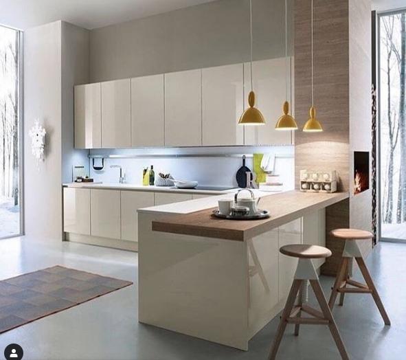 extension of kitchen counter  minimal kitchen design