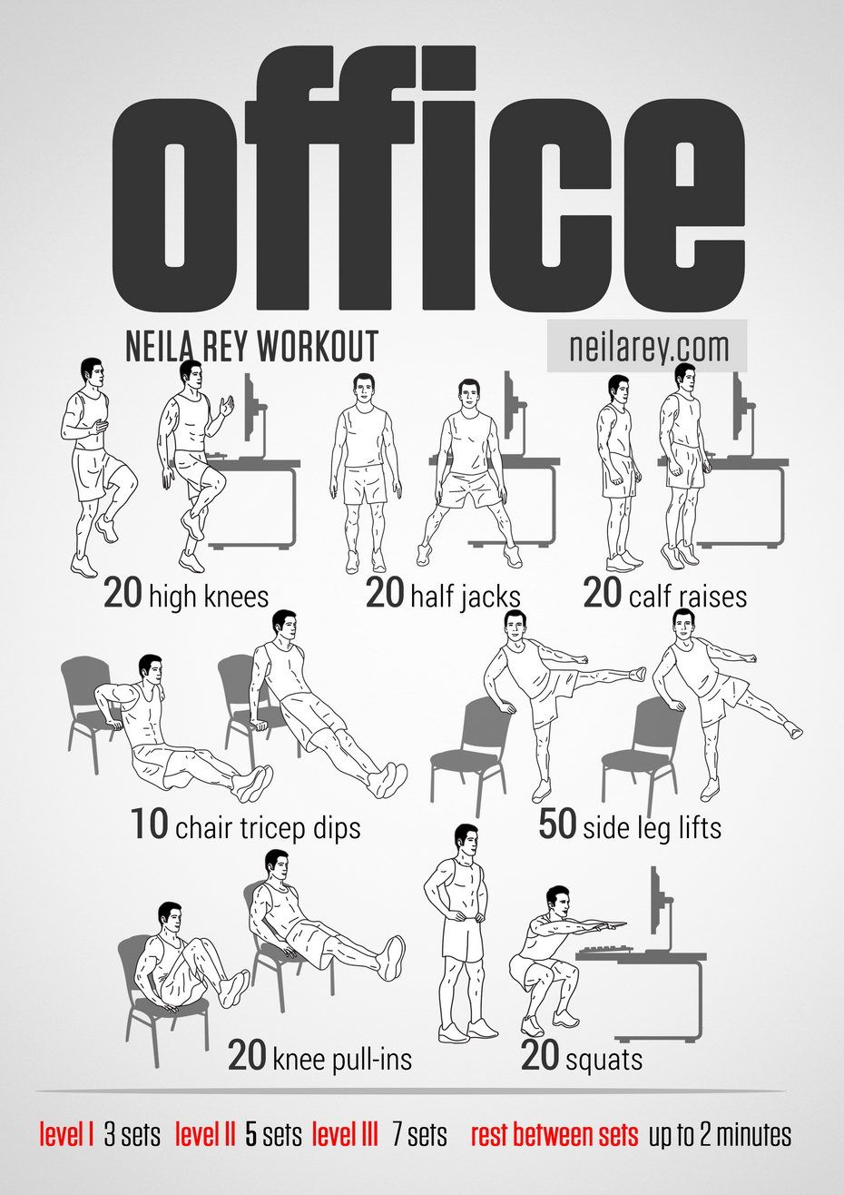 Desk exercises for abs