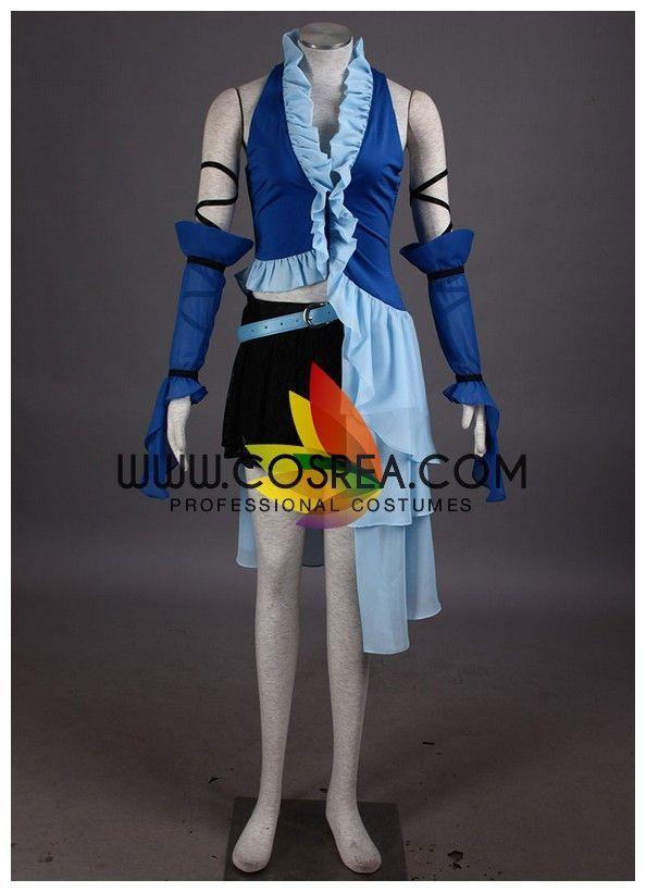 Final Fantasy X FF10 Cos Yuna Summoner Cosplay Costume Customized
