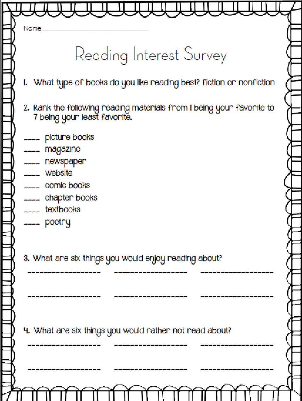 Educationjourney Guided Reading Guided Reading Reading Survey Reading Interest Survey [ 1364 x 1028 Pixel ]