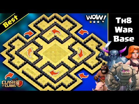 Th8 War Base With Bomb Tower Anti 3 Star Clash Of Clans Clasherlab Clash Of Clans Clan War