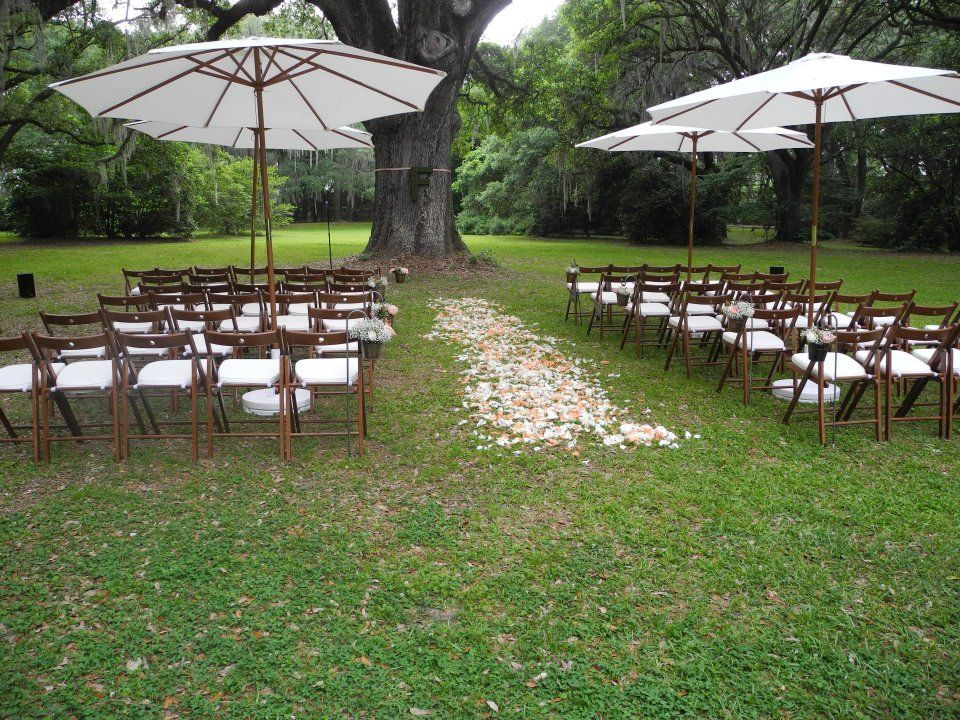 So sweet for a small outdoor wedding!! Rentals shown ...