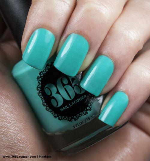 Neon teal creme nail polish | Neon Collection | Pinterest | Teal ...