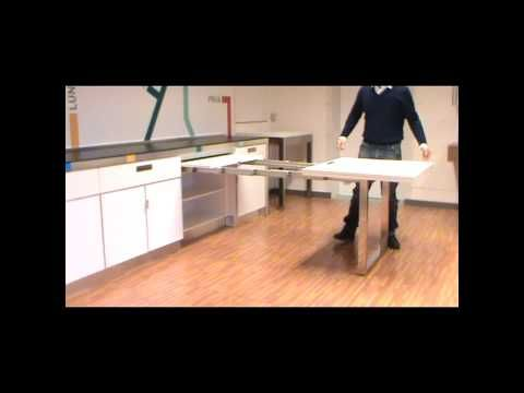 Atim Dinner - Pull out drawer table - YouTube