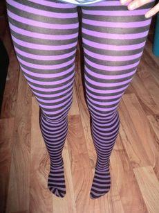 Purple and black stripes!