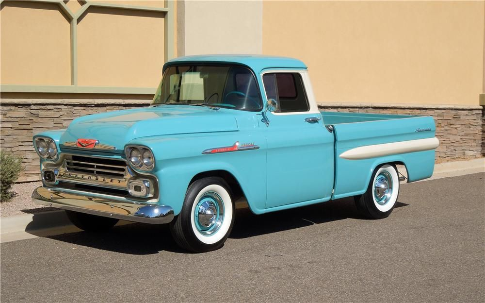 1958 CHEVROLET APACHE PICKUP - Barrett-Jackson Auction Company ...