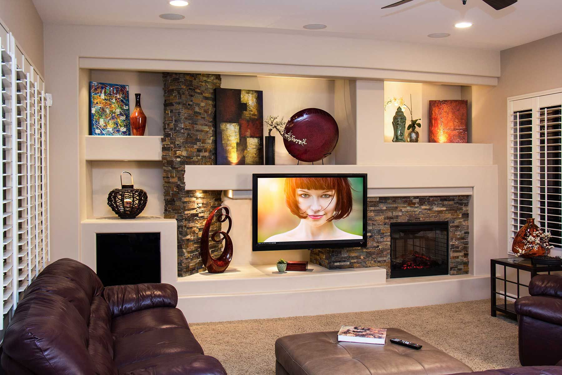 DAGR Design recently completed a new custom home entertainment