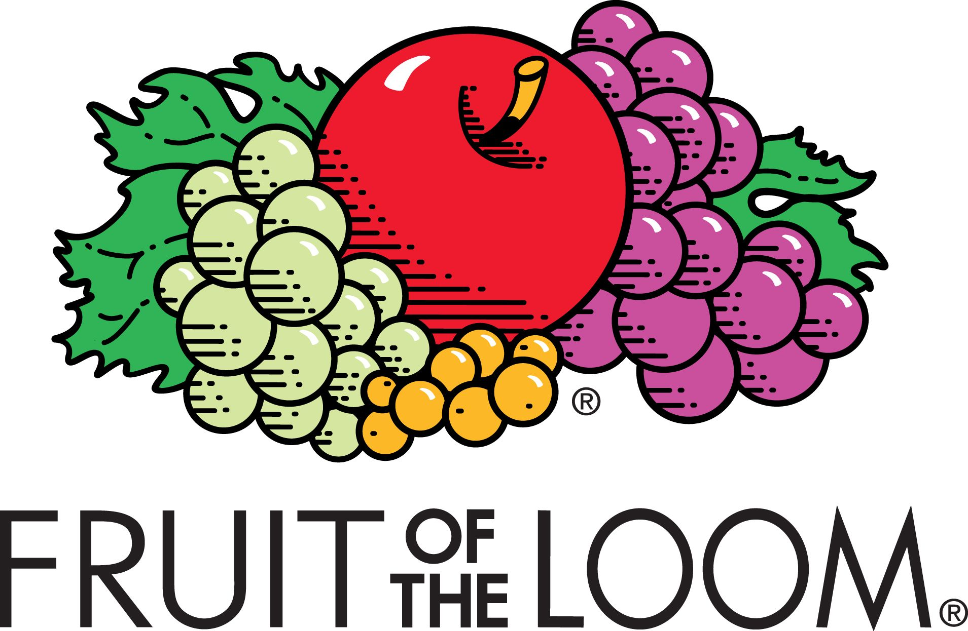 The Fruit of the Loom logo is a fun play on words. The