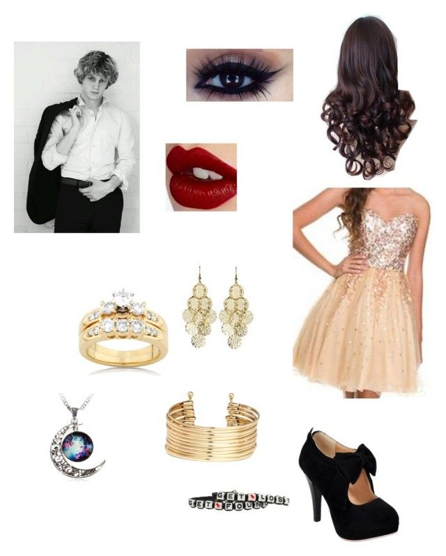 """""""Randi's wedding"""" by amandamccloskey01 ❤ liked on Polyvore featuring Kobelli, Alexia Crawford, H&M, GET LOST and Charlotte Tilbury"""