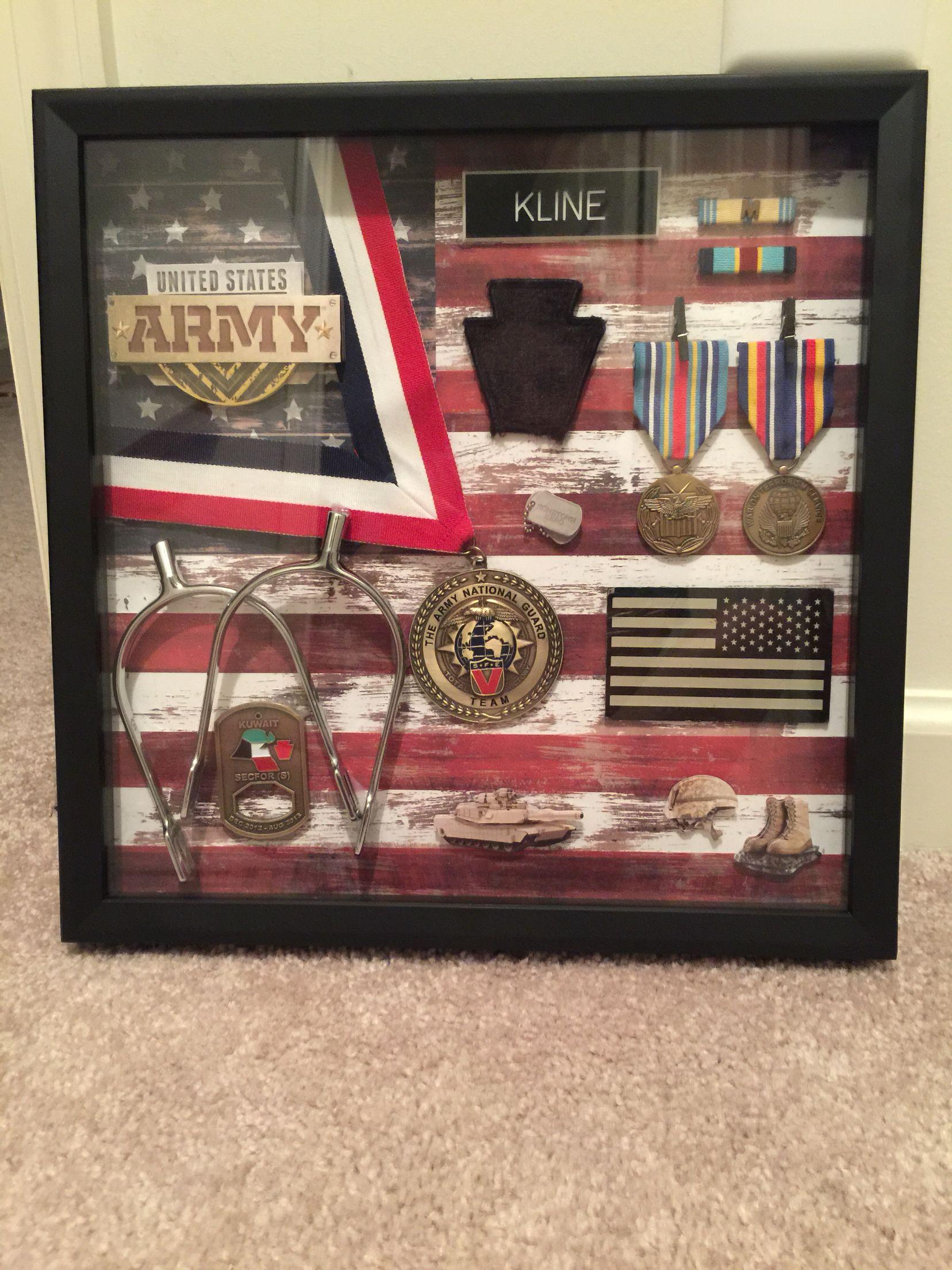 Army shadow box, military gift, DIY | CRAFT IDEAS | Pinterest
