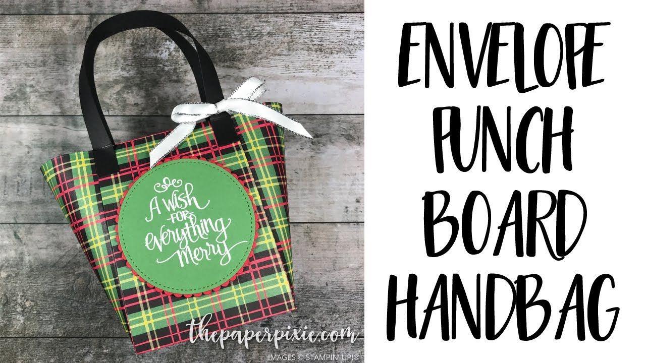 Envelope Punch Board Handbag